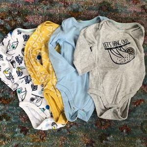Baby Boy Long Sleeve Onesies
